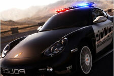 Incorniciato stampa-PORSCHE CAYMAN auto della polizia (foto poster arte veicolo SUPERCAR)