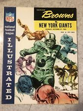 1963 CLEVELAND BROWNS JIM BROWN FOOTBALL PROGRAM VS NEW YORK GIANTS
