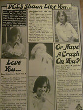 Shaun Cassidy, Battlestar Galactica, Double Full Page Vintage Clipping