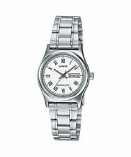 NEW Casio LTP-V006D-7B Women's Stainless Steel Watch ROMAN WHITE Dial Day Date