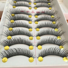 10 Pairs Natural Cross False Eyelashes Long Thick Eye Lashes Extension Makeup