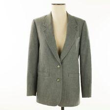 Vintage Pendleton Women Blazer Large Gray Virgin Wool Curved Lapel. Made in USA