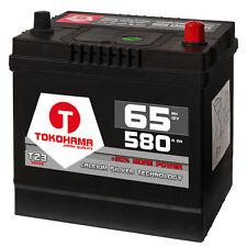 Asia Autobatterie 12V 65Ah 580A/EN + Plus Pol Rechts Japan KFZ statt 60Ah 56068