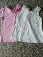 Two girls summer tops, 3-6 months, George.