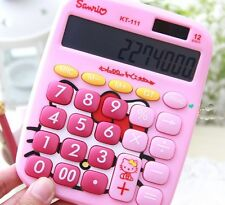 Hello Kitty Cute Lovely Basic Calculator w/Battery Pink