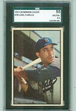 1953 Bowman #78 Carl Furillo, Brooklyn Dodgers, Graded  SGC 55