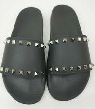 8b19b6a0d39 Valentino Mujer Rockstud Slide Negro PVC Sandalias Talla 41