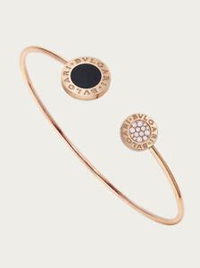 Authentic BVLGARI Dimond/Onyx Gold Bracelet -