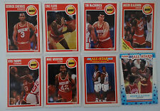 1989-90 Fleer Houston Rockets Team Set Of 8 Basketball Cards