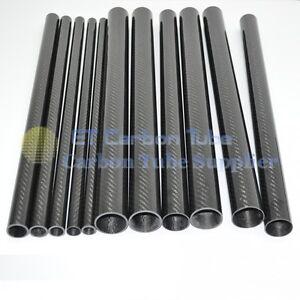 3K Carbon Fiber Tube 20mm 21mm 22mm 23mm 24mm 25mm 26mm 27 28mm 29 30mm x L500mm