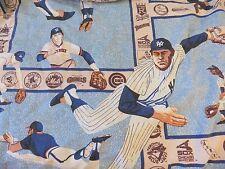 "MLB BASEBALL Window Curtain Panel Drape (63"" x 39"") Fabric Material Vintage 80's"