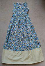 Girls handmade blue/yellow floral flower sleeveless maxi dress 8-9 years