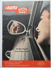 Auto Motor Sport 22/1958, Großer Bericht vom Pariser Salon