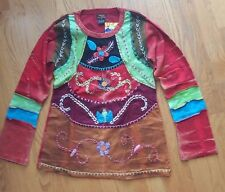 Rising International NEPAL HIPPIE Cotton PATCHWORK LONG SLEEVE Shirt FAIR TRADE