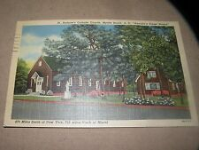 VINTAGE ST. ANDREW'S CATHOLIC CHURCH MYRTLE BEACH SC South Carolina linen