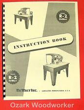 DEWALT R-2 Radial Arm Saw Instruction & Parts Manual 0263