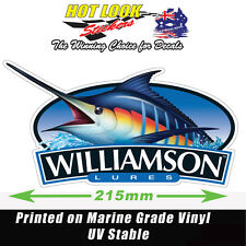 WILLIAMSON LURES MARLIN STICKER FISHING REEL ROD DECAL SUIT BOAT  BAIT BOX