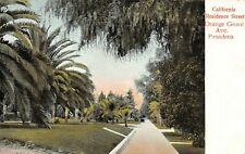 California Residence Street Orange Grove Ave View Pasadena,CA 1900's Postcard