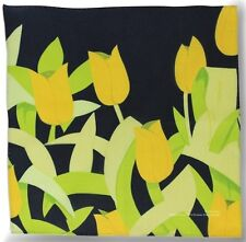 ALEX KATZ 'Yellow Tulips' Handkerchief Screenprint on Cotton Artist Multiple NEW