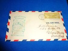 US FIRST FLIGHT COVER: 1934 CASPER WY