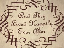 Newport And They Lived Happily Ever After Pillow Cover Canvas Tan Burgundy Red