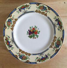 Myott Staffordshire England Set of 5 Dinner Plates White Fruit Bowls Floral LH39