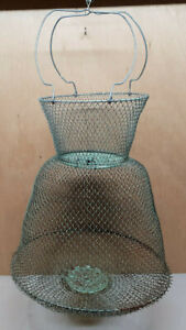 Ancien bourriche Maillinox Dia 31 cm peche filoche Nasse en métal peche gardon