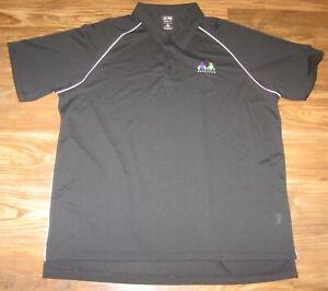 Saratoga Horse Racing Mens Polo Shirt, Black, Adidas ClimaLite,  Size 3XL, EUC