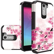 Spring Cherry Blossoms Durable Dual Layer Hybrid Cover for LG K7 Tribute J5