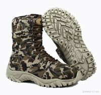 Mens Cargo Lace Up Camouflage Millitary Hip Top Shoes combat Boot Outdoor Shoes