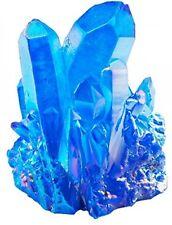 Healing Stone Blue Titanium Coated Crystal Cluster Geode Druzy Gemstone Crystals