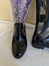Decz Rainboots with inter changeable designs New in box 6 Nice Very Rubber boot
