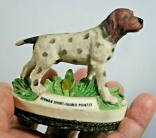 """Vintage German Short-Haired Pointer Lint Brush Figurine, 3.5"""" Tall & 3.75"""" Long"""