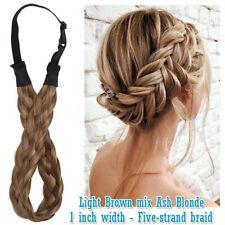 Fashion Hair Thick Chunky Headband French Fake Twist Braid Band Extension GR