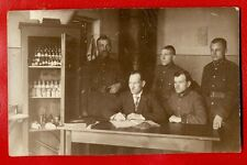 LATVIA SOLDIERS and cabinet for medicines VINTAGE PHOTO POSTCARD 885