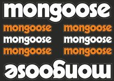 Mongoose Bicycle Frame Decals Cycling Stickers Graphic Adhesive Set Vinyl 8pcs