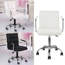 PU Faux Leather Computer Office Chair Adjustable Armchair Desk