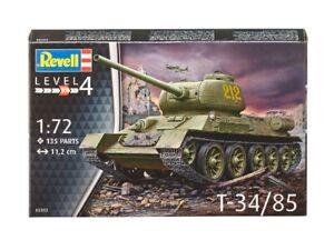 T-34/85 Tanque 1:72 Plástico Modelo Kit 03302 Revell