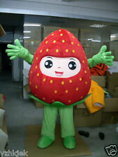 Advertising Fruit strawberry Mascot Costume Adult Size Fancy Dress Halloween hot