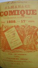 ALMANACH COMIQUE Pittoresque, drolatique et charivarique 1858-59-60 petit format