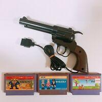 Wild GunMan Gun Controller with 3 games Famicom Japan FC NES