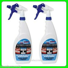 Twin Pack Ultimate Finish Waterless Wash and Wax 750ml [UFWWW7502]