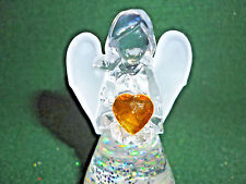 Hallmark Gift Bag Angel with Yellow Heart Lighted Snow Globe Swirling Glittr NEW