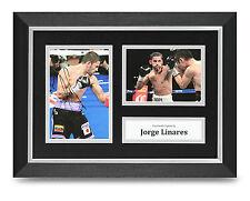 Jorge Linares Signed A4 Photo Framed Boxing Memorabilia Autograph Display + COA