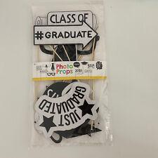 10Pcs Class Of 2020 Graduation Party Masks Photo Booth Props Grad Party Supplies