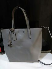 Coach Gray Leather Small Central Shopper Tote Crossbody Bag 78217