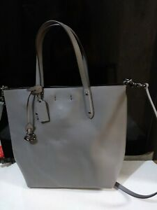 Coach Gray Leather Small Central Shopper Tote Crossbody Bag 78217