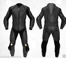Black Motorcycle Suit Leather Motorbike Suit Biker Racing Sports Leather Suit