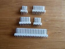 "5 off 12 Way Straight Pin PCB Headers 0.1"" (2.54mm) Connectors  KK"