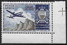 1954 San Marino Aereo L. 1000 MNH Sass n. A112